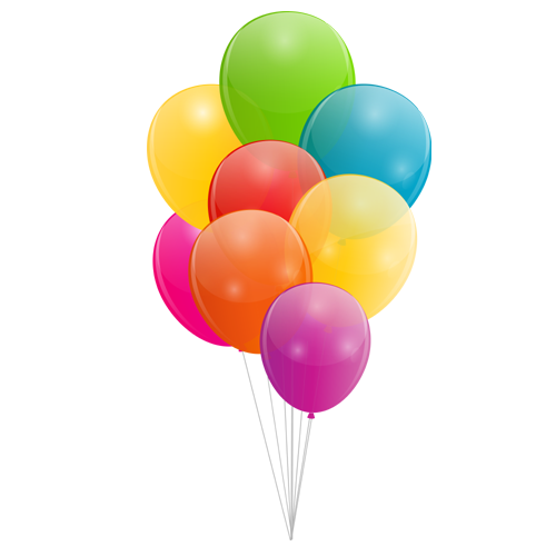 Multicolored Balloon PNG Image