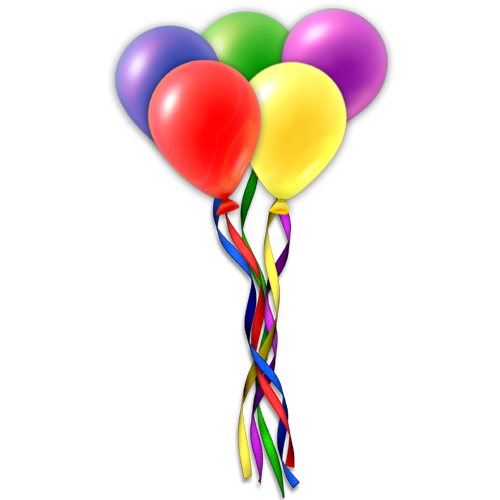 Flying Balloons PNG Image