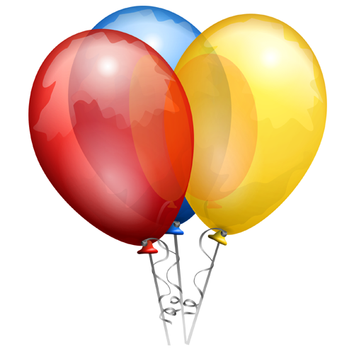 Anniversairy Balloon Multicolored PNG Image