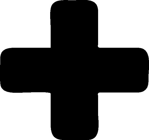 Black Plus Symbol