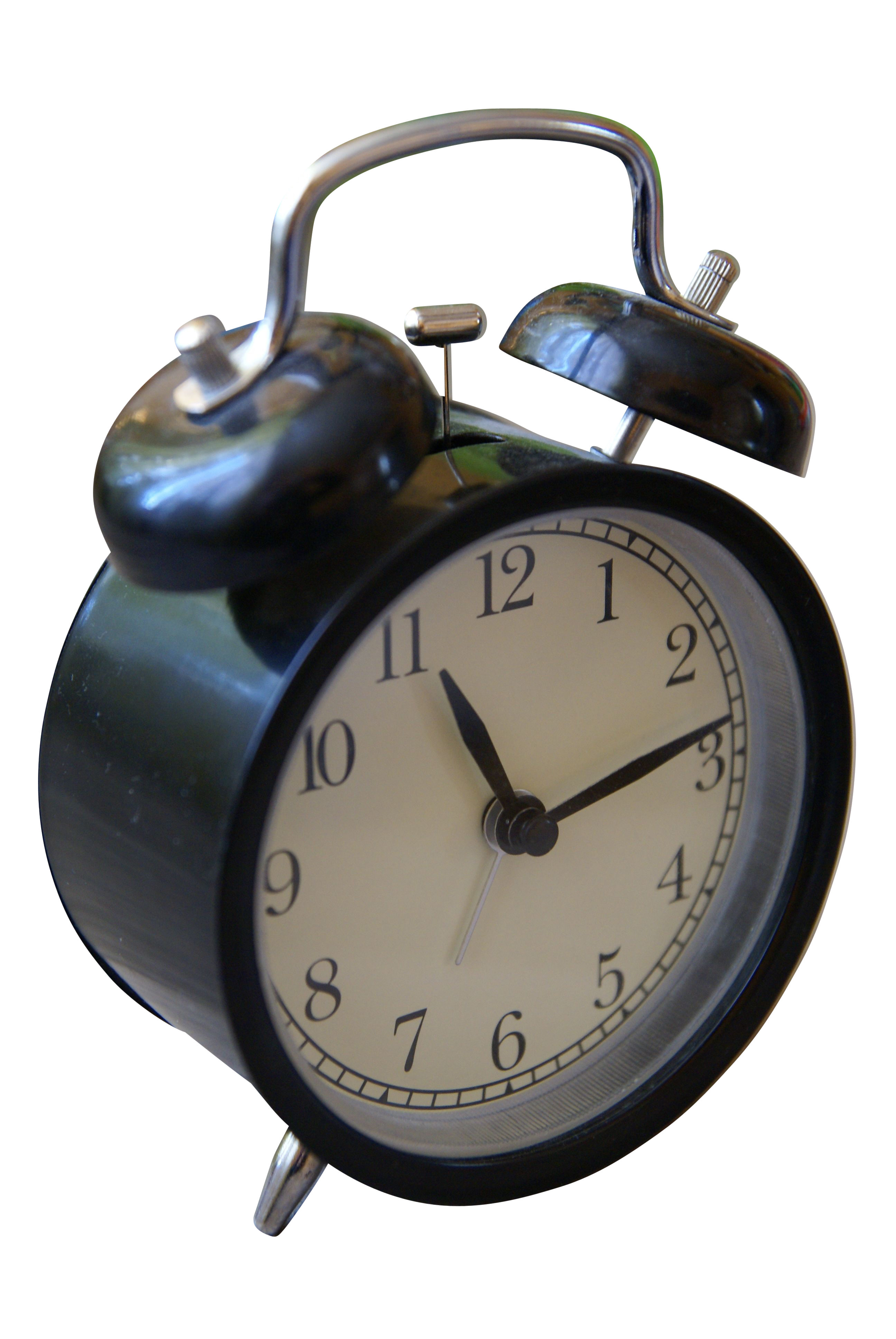Black Table Clock PNG Image