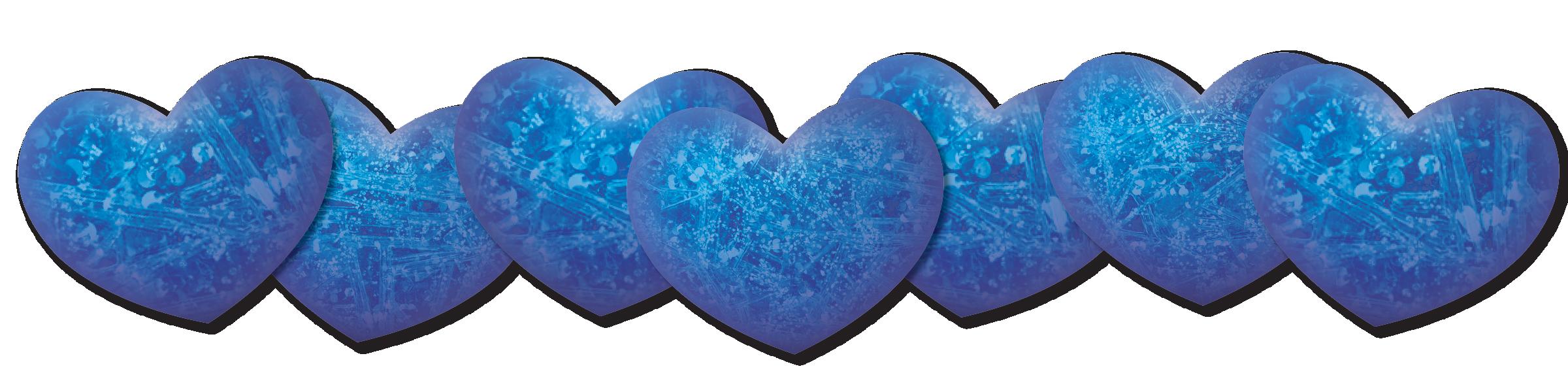 Blue Color Hearts
