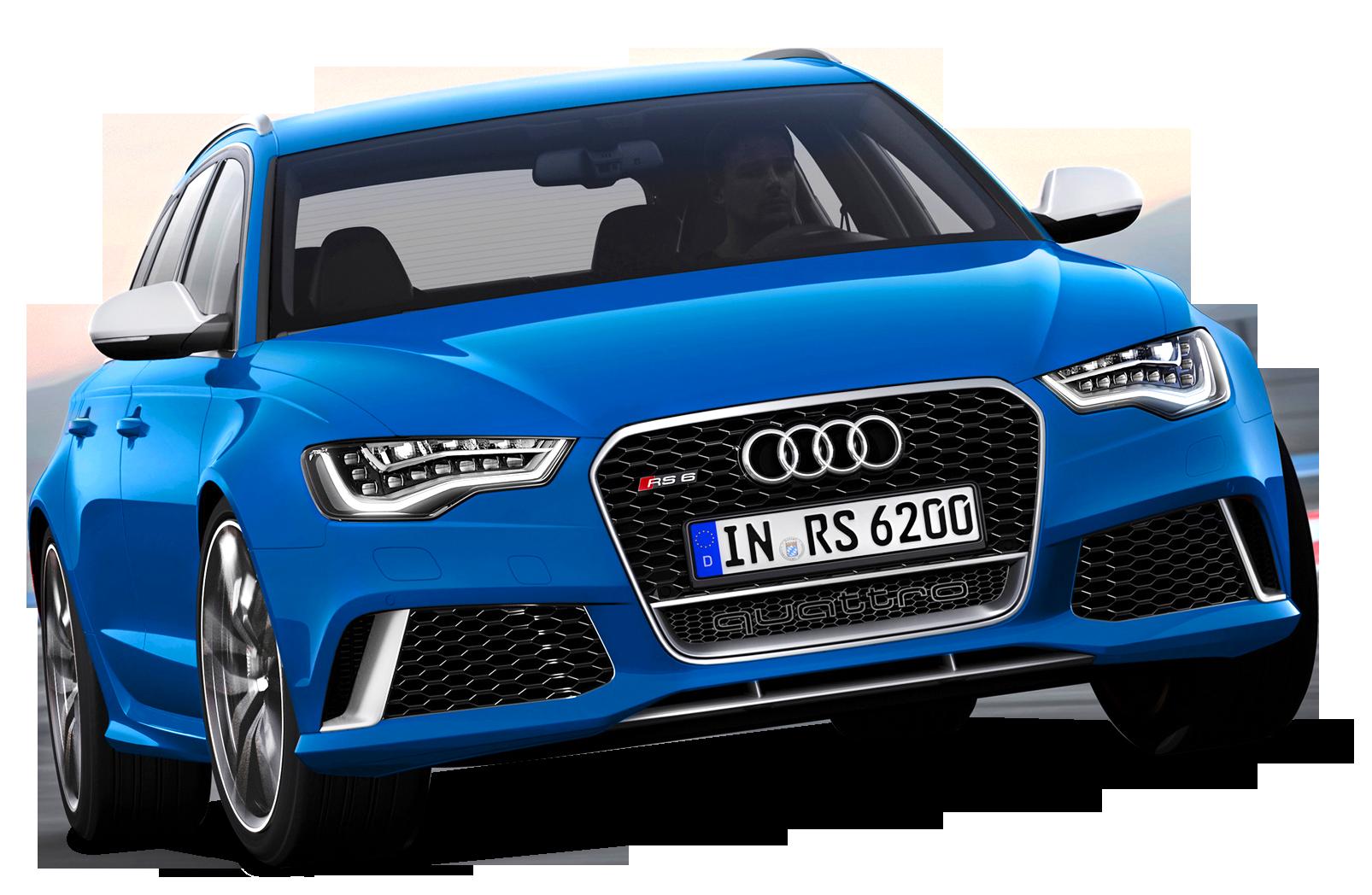 Blue Edition  Audi Luxury Car PNG Image