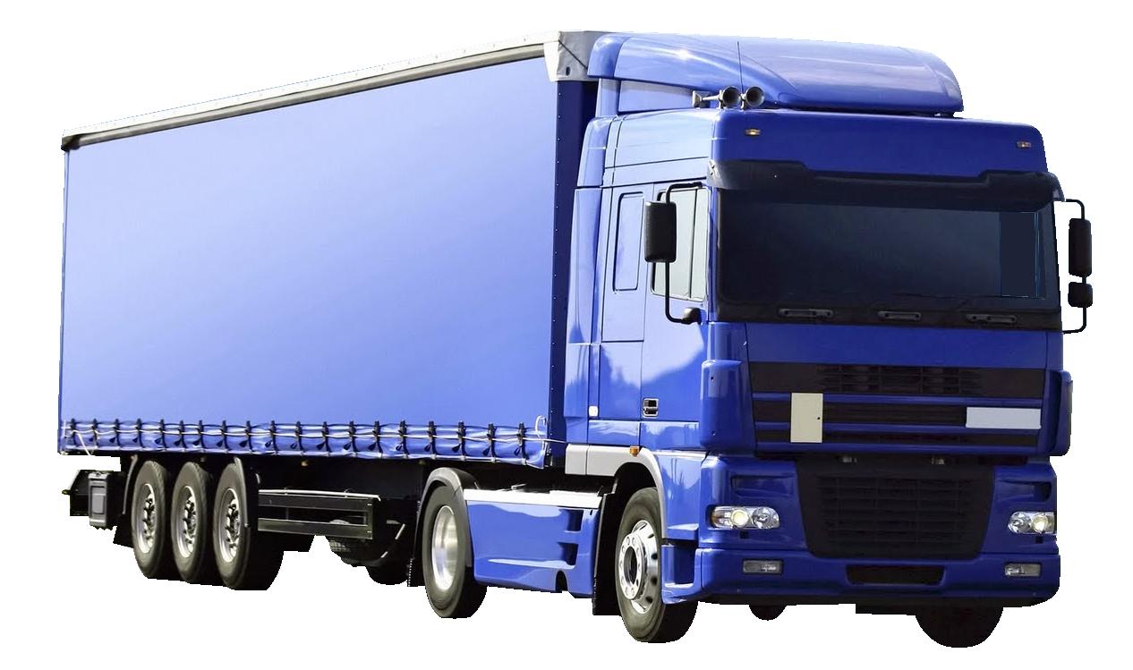 Blue Kamaz Truck PNG Image