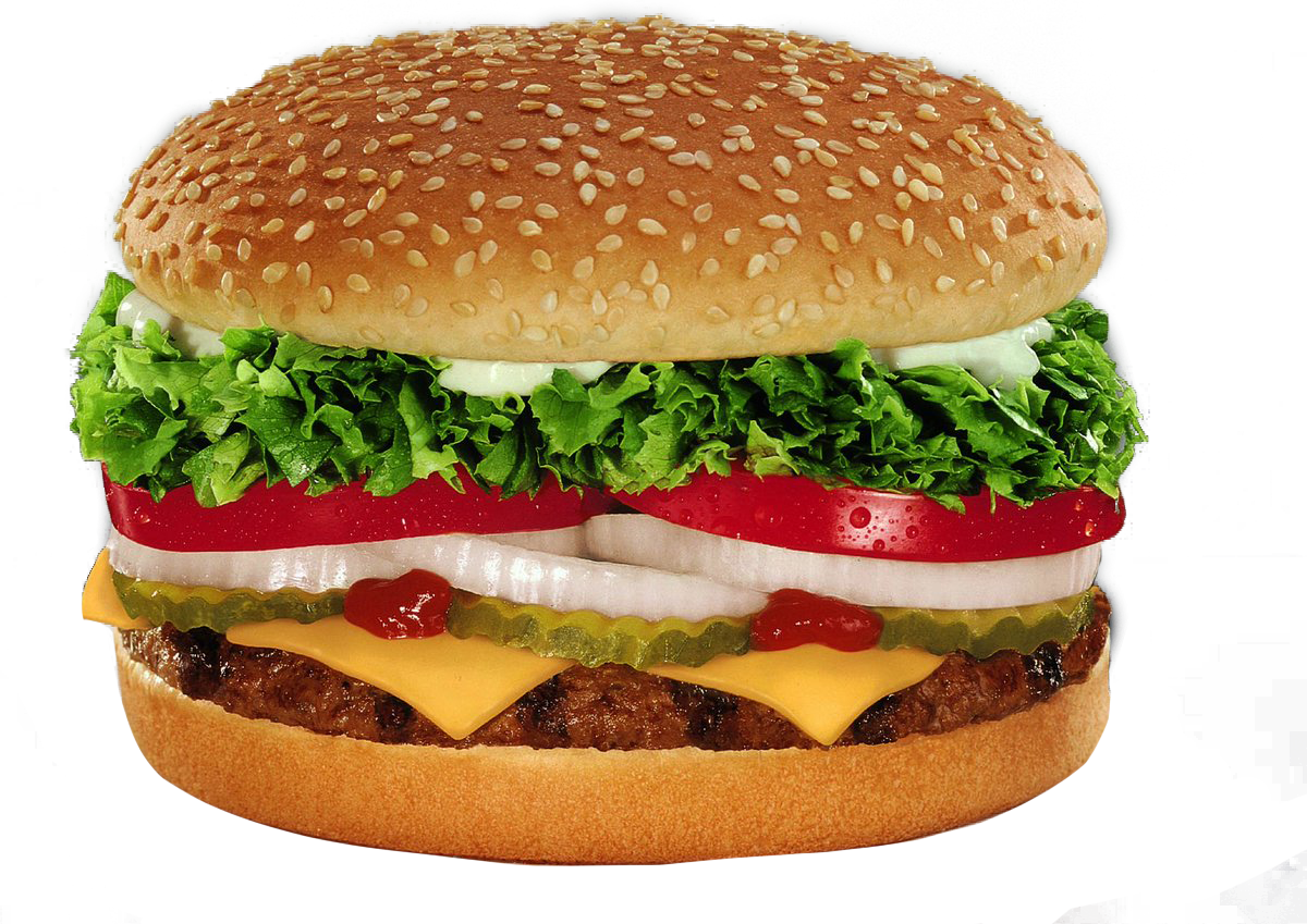Burger King Whopper With Cheese PNG Image