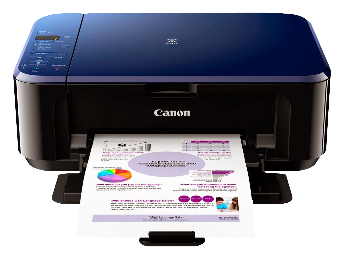 Canon Color Photo Printer PNG Image