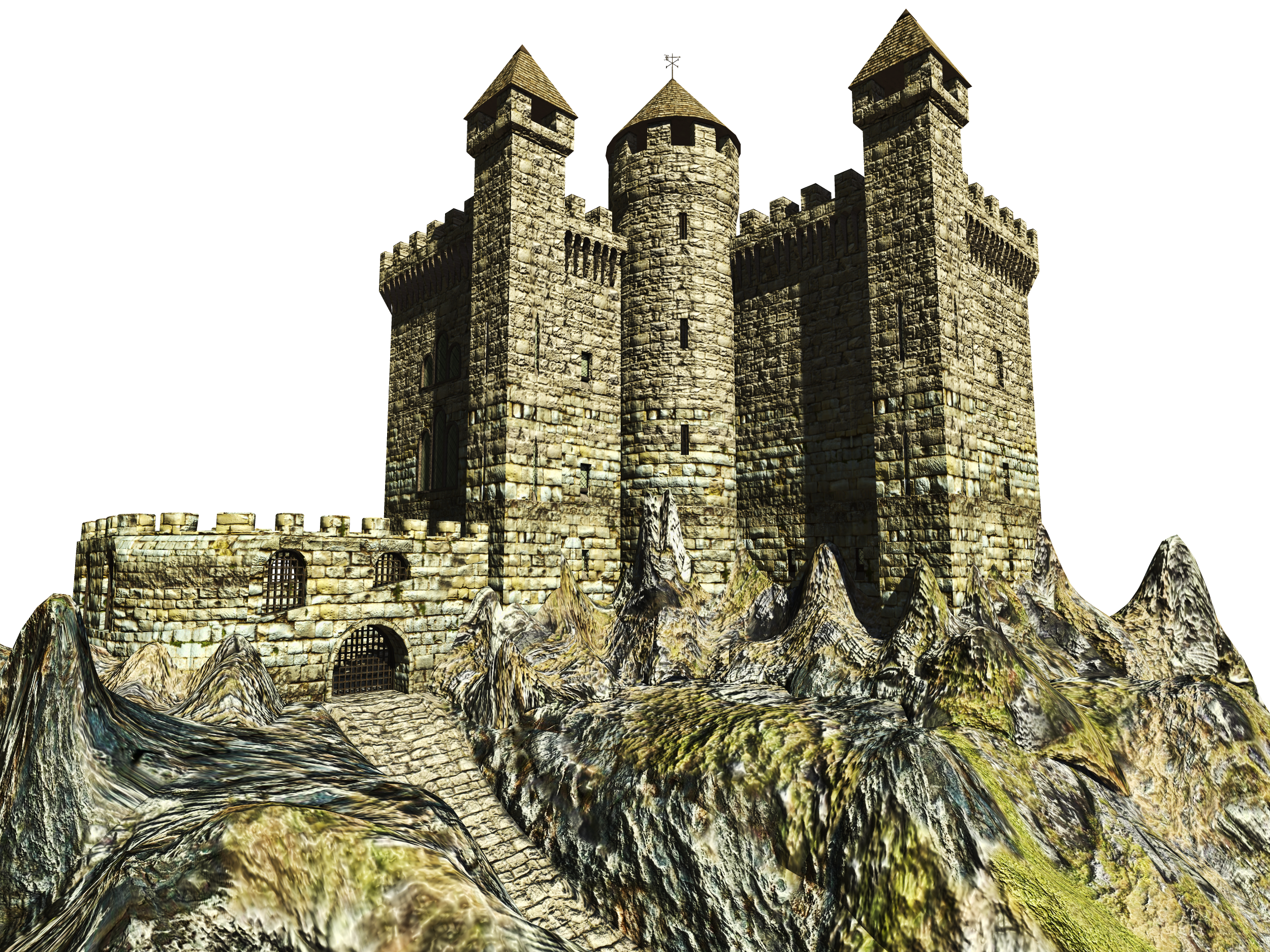 Castle - Antique PNG Image