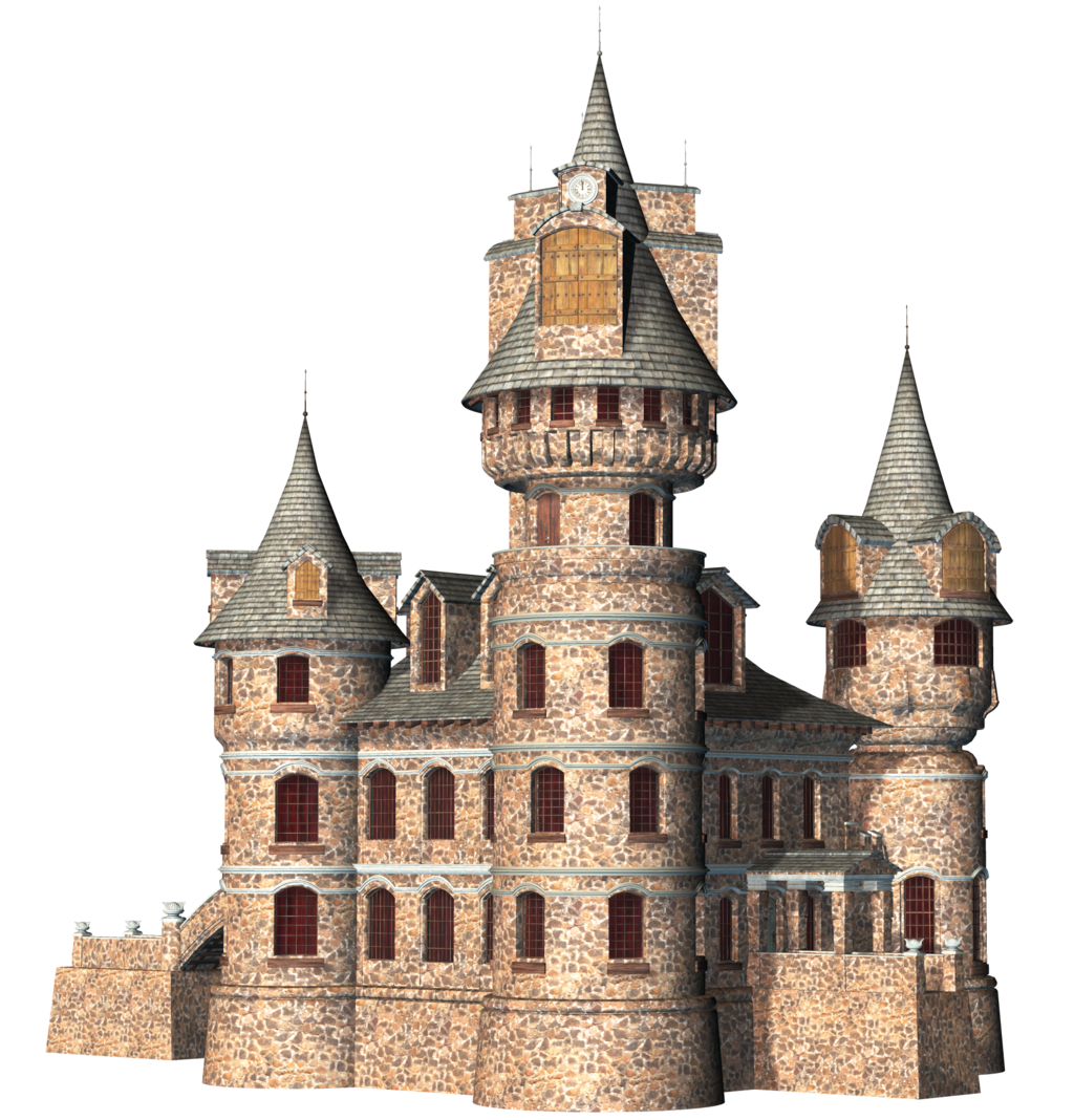 Coloured Drawing of a Castle