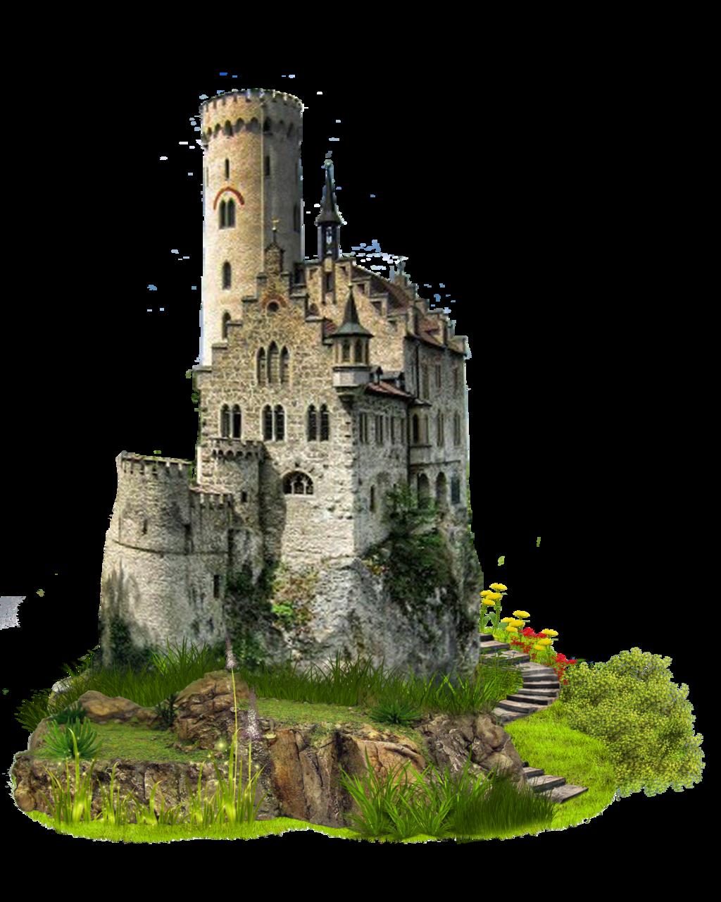Artist Impression of a Castle PNG Image