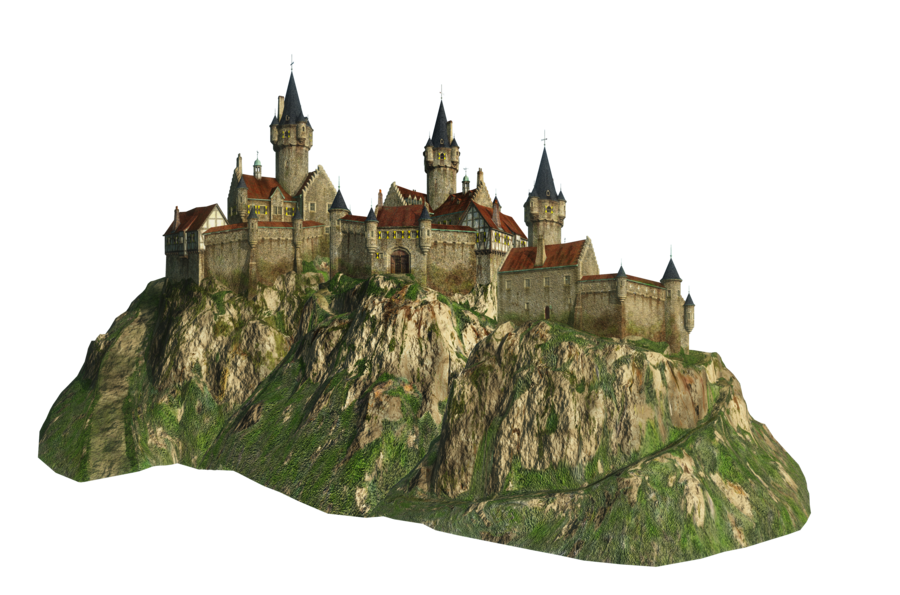Cut-out Castle on a Hill