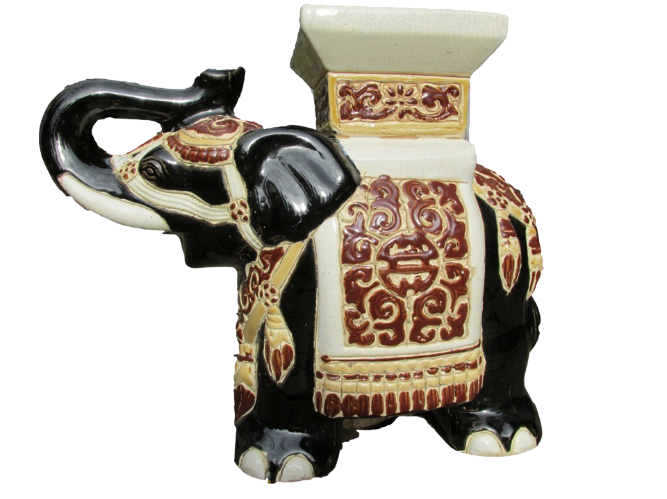 Decorated Ceramic Elephant PNG Image
