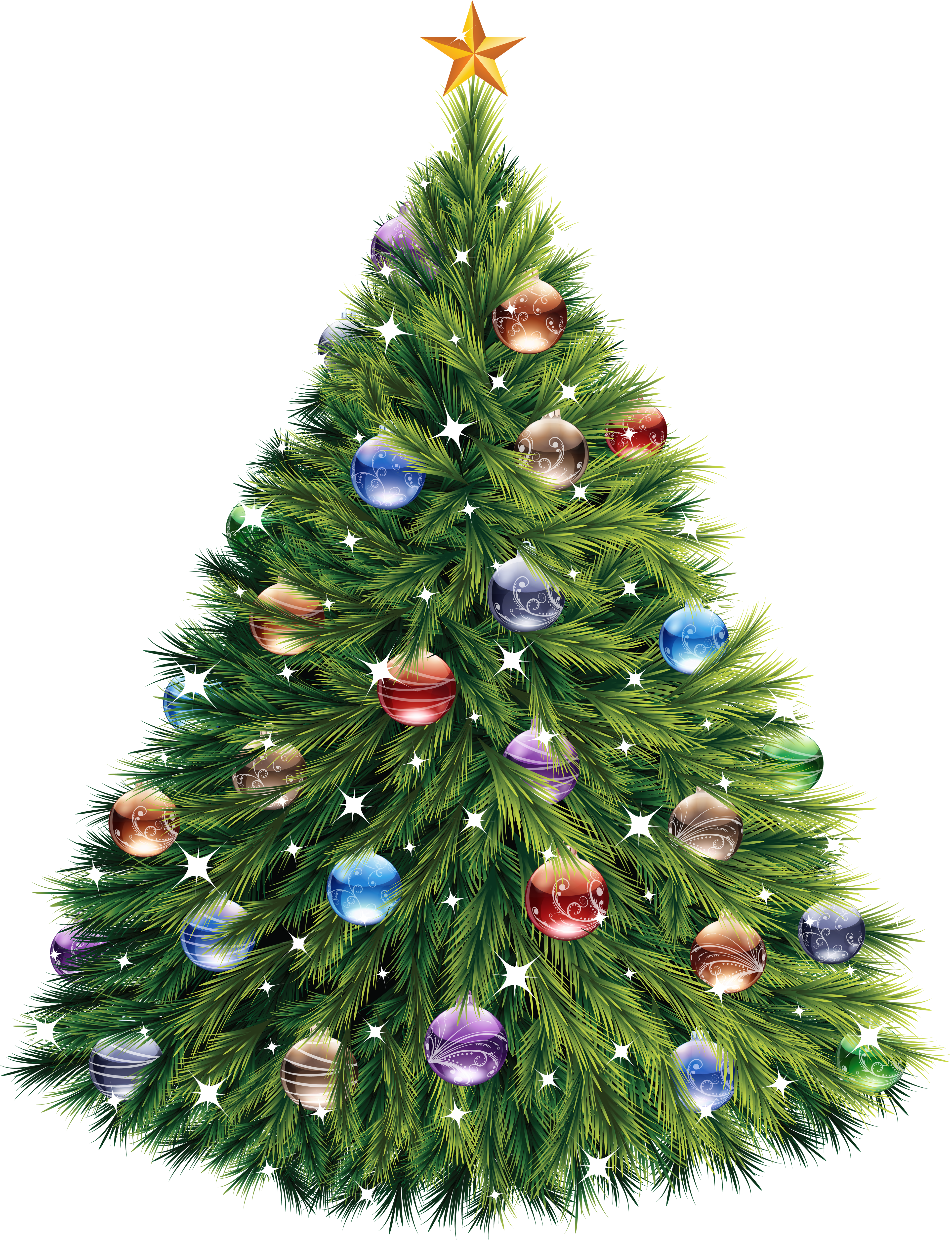 Christmas Tree Clipart PNG Image