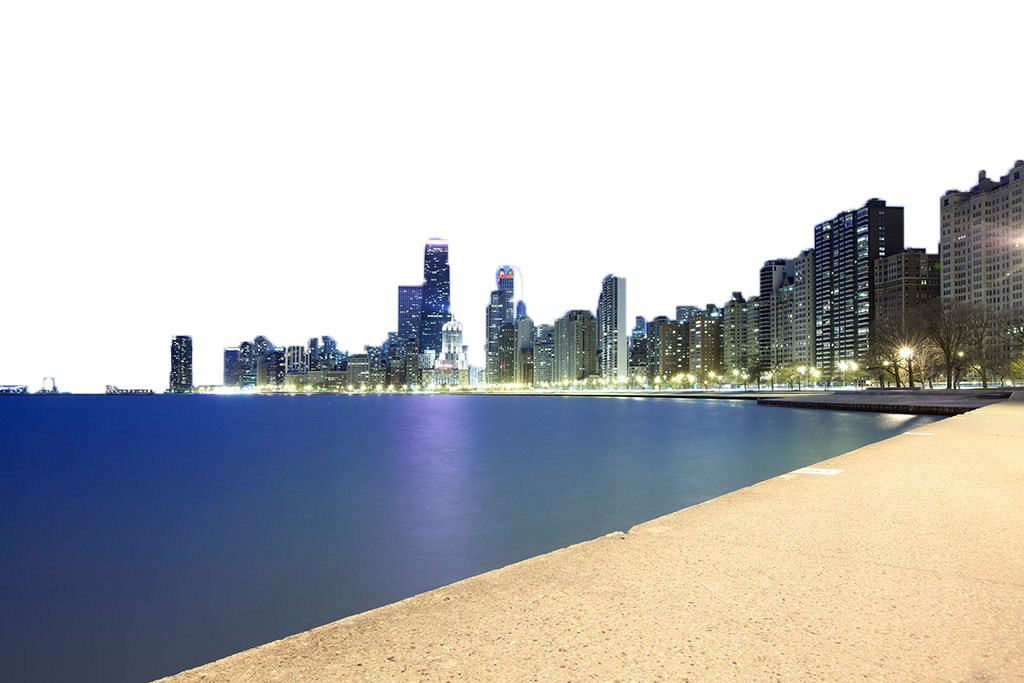 Lighted city PNG Image