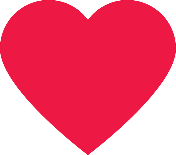 Classic Red Heart PNG Image
