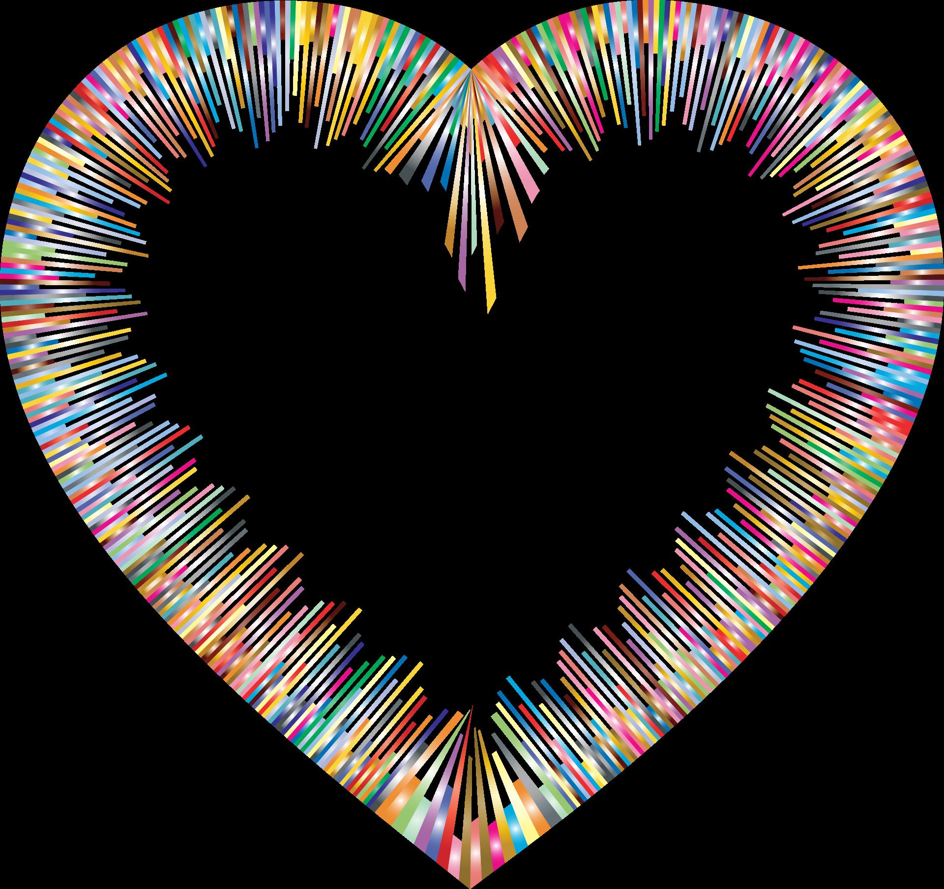 Color Spectrum Heart Shape