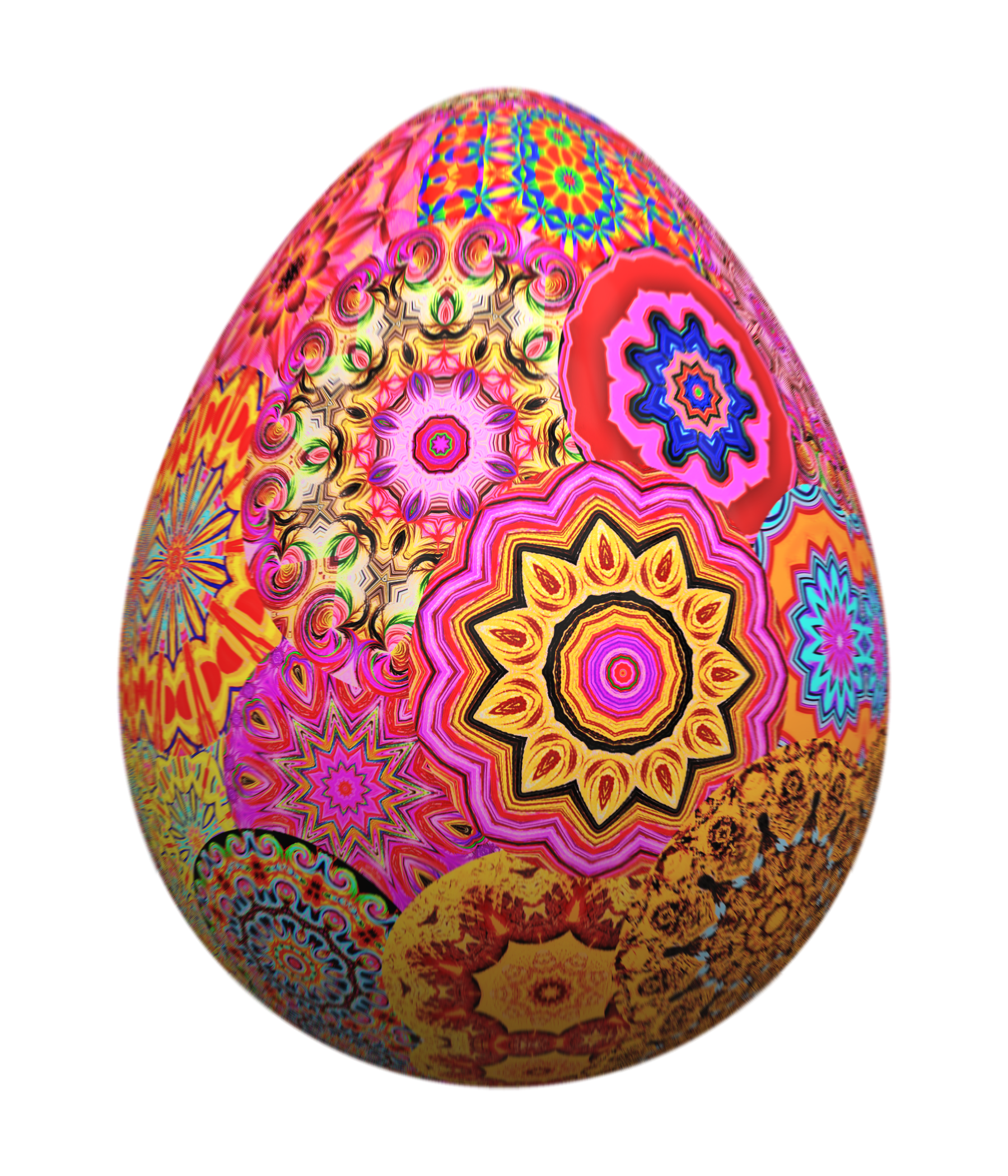 Colorful Easter Eff PNG Image