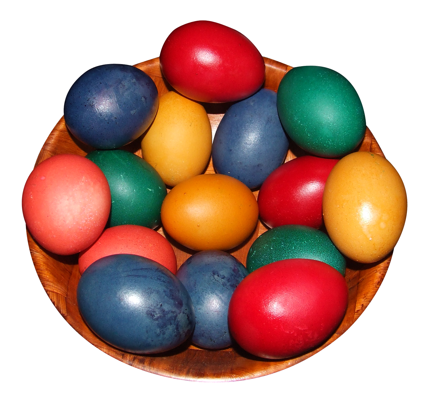 Colorful Eggs in a Pot