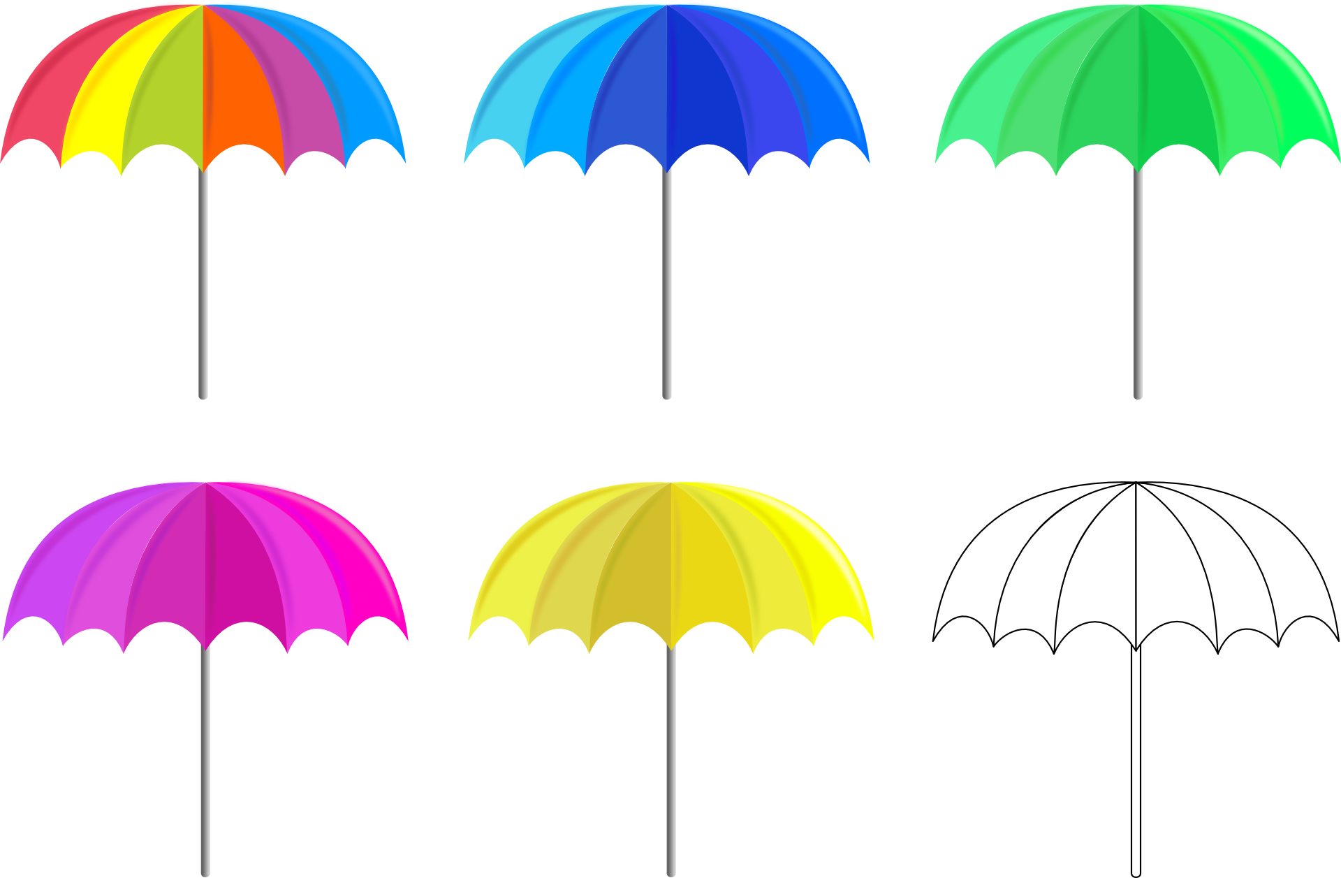 Colorful Umbrella PNG Image