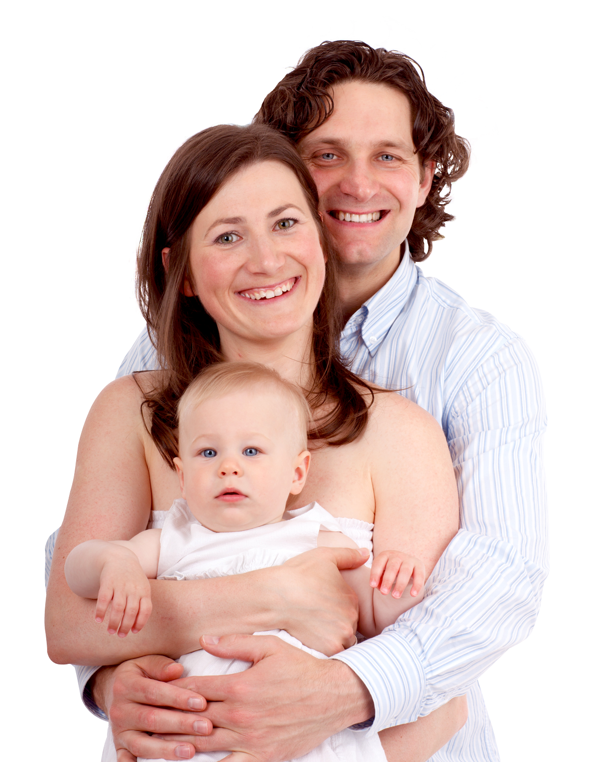 Couple with baby PNG Image