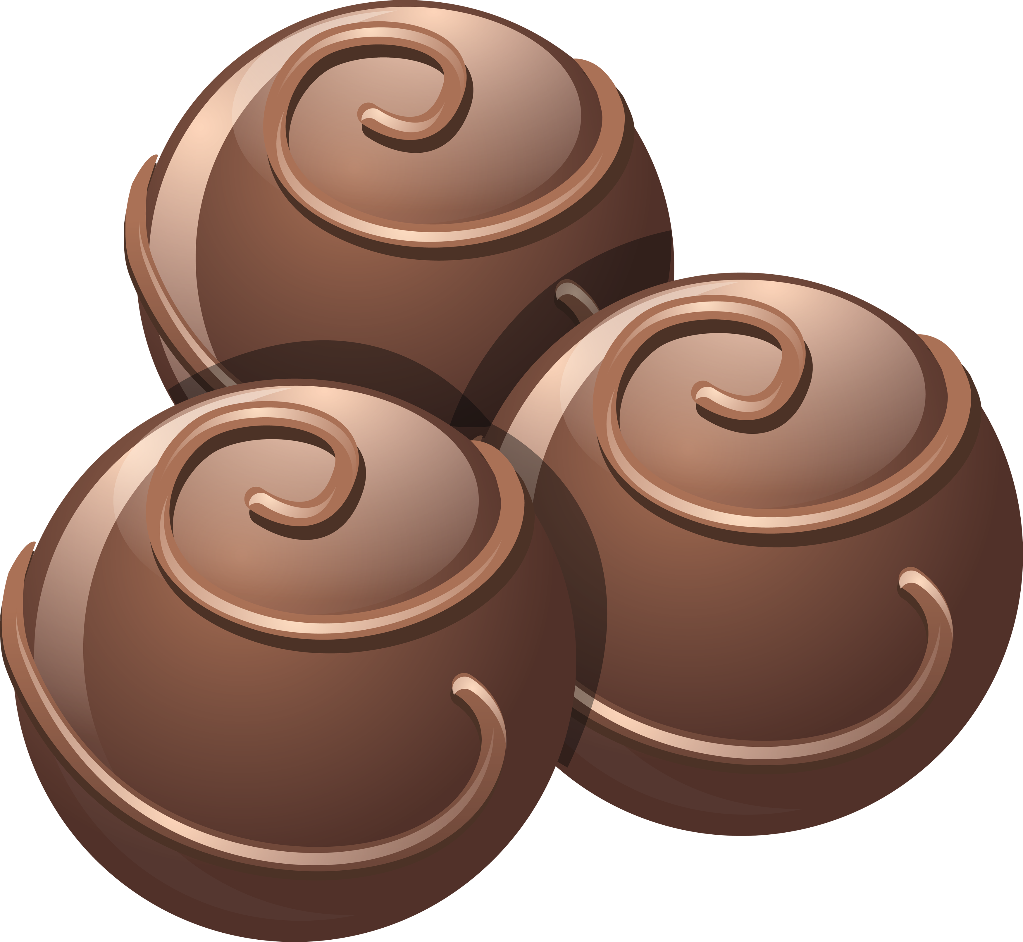 Dark Chocolate Scoops PNG Image