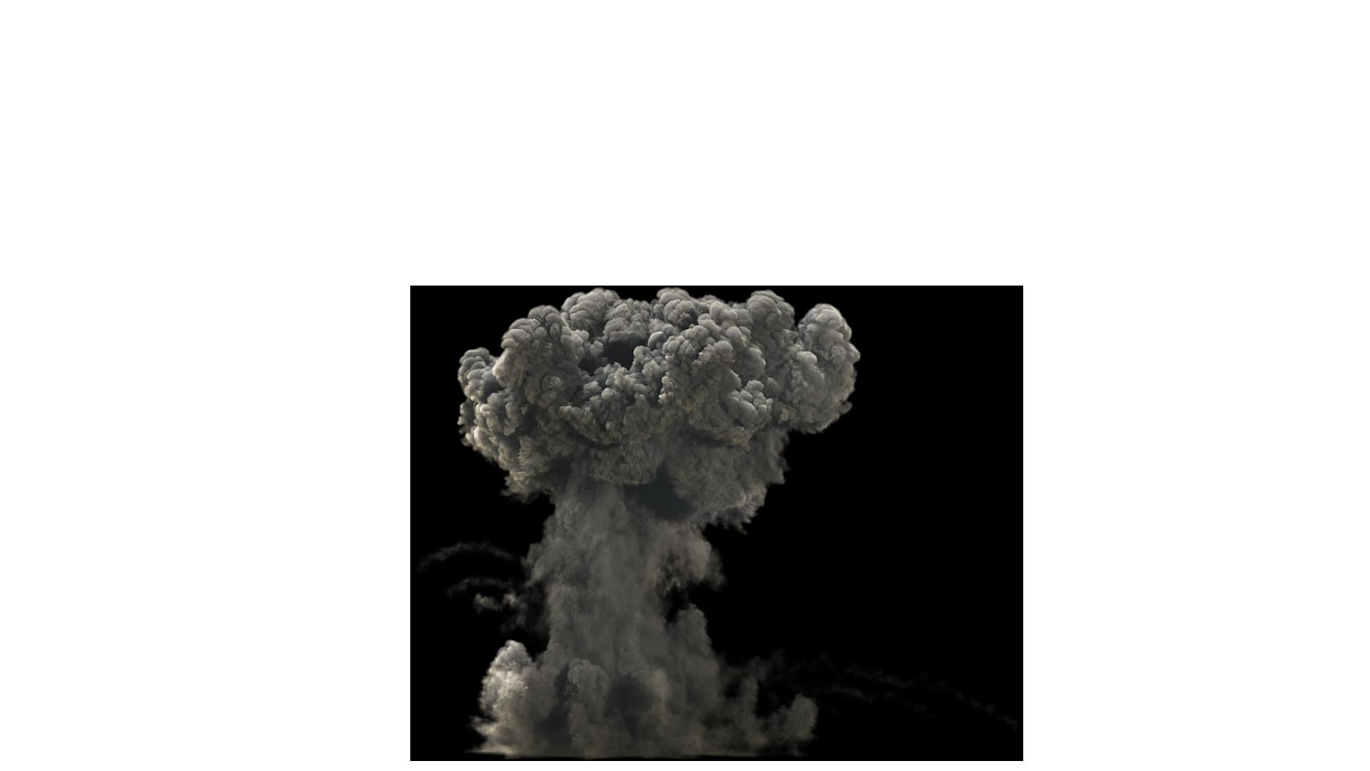 Dark Smoke Explosion PNG Image