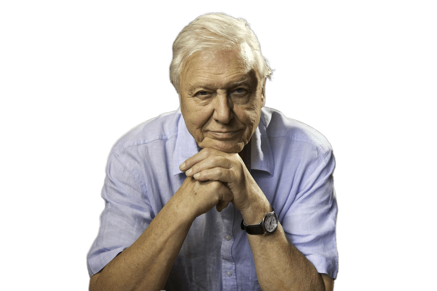 David Attenborough Sitting PNG Image