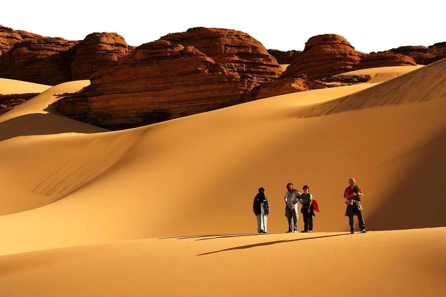 desert tourists