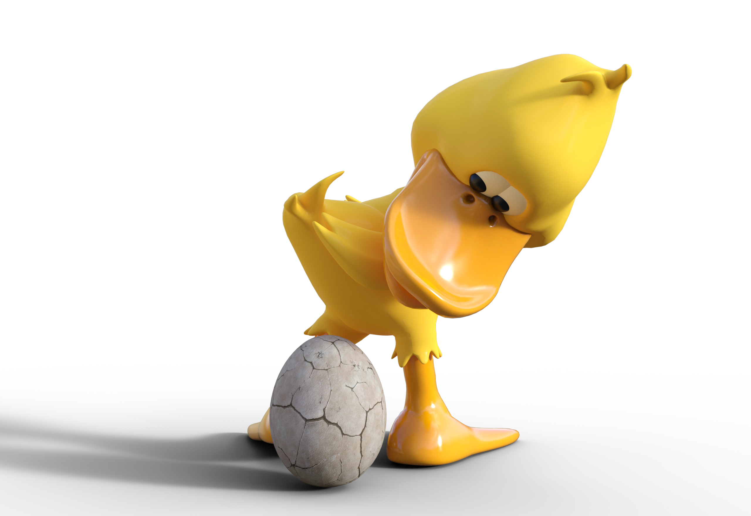 Duck Having an Egg PNG Image