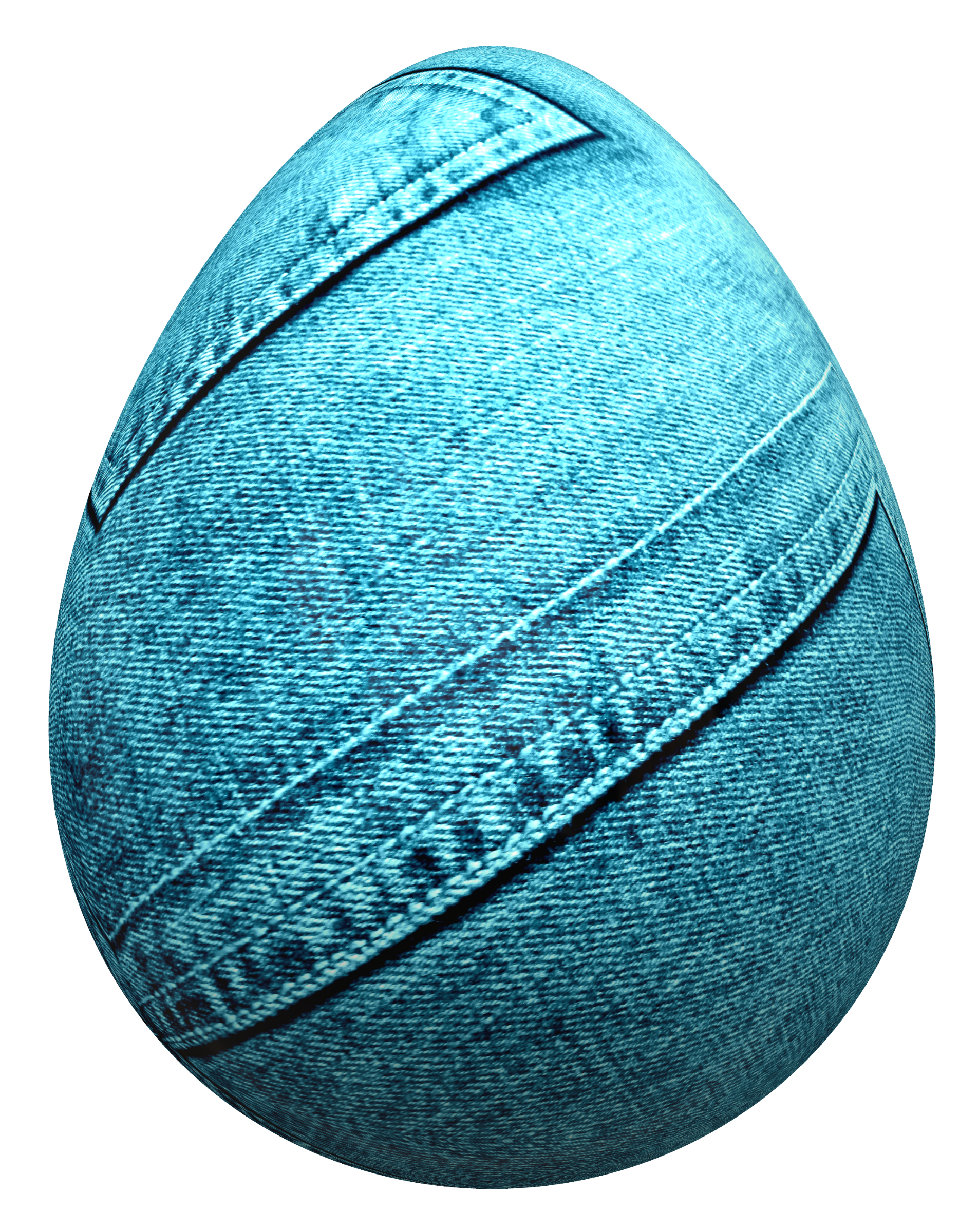 Egg Wrapped in Blue Jeans PNG Image