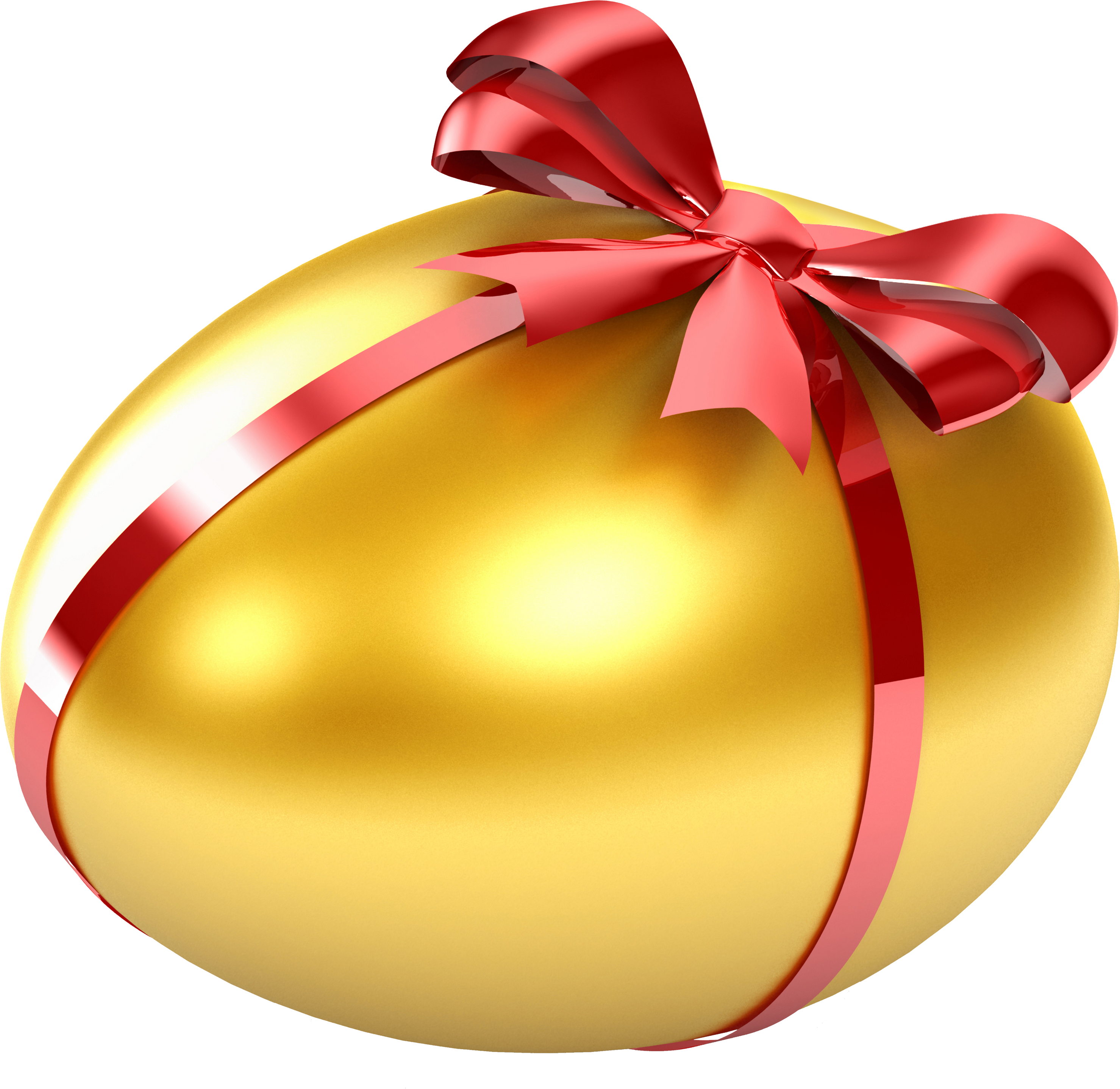 Egg Wrapped  in Red Ribbon