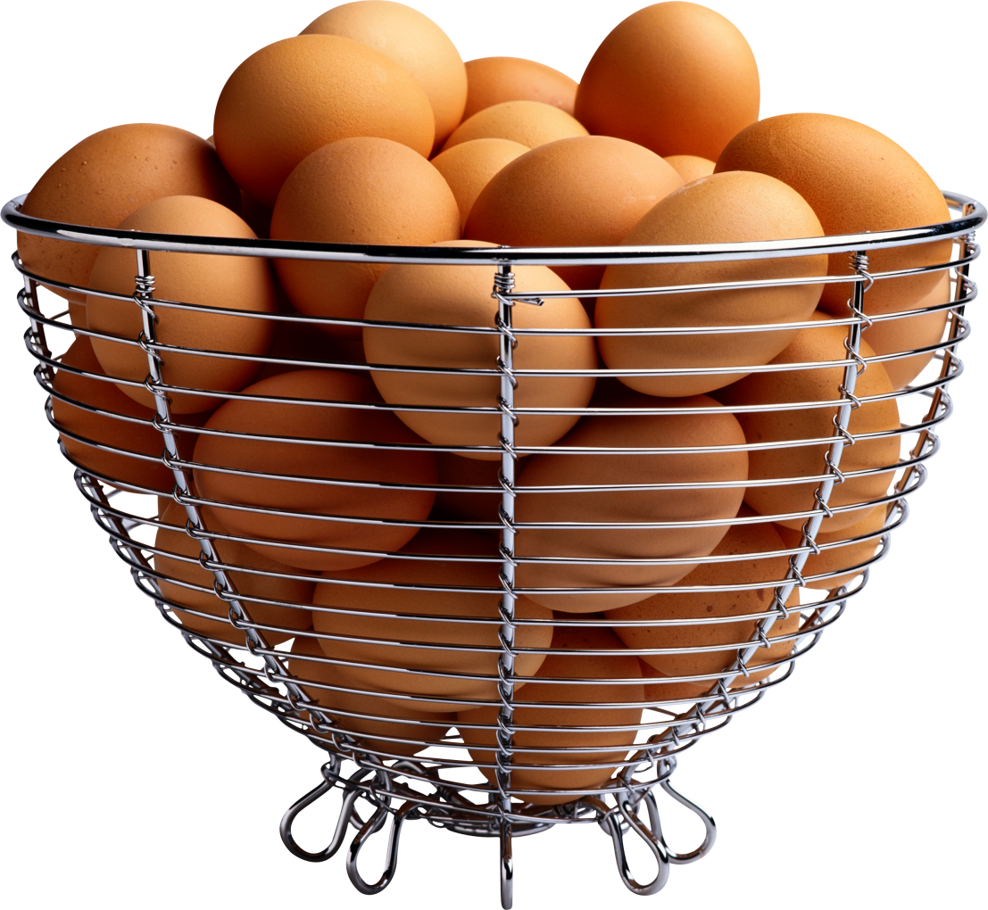 Eggs in Basket PNG Image