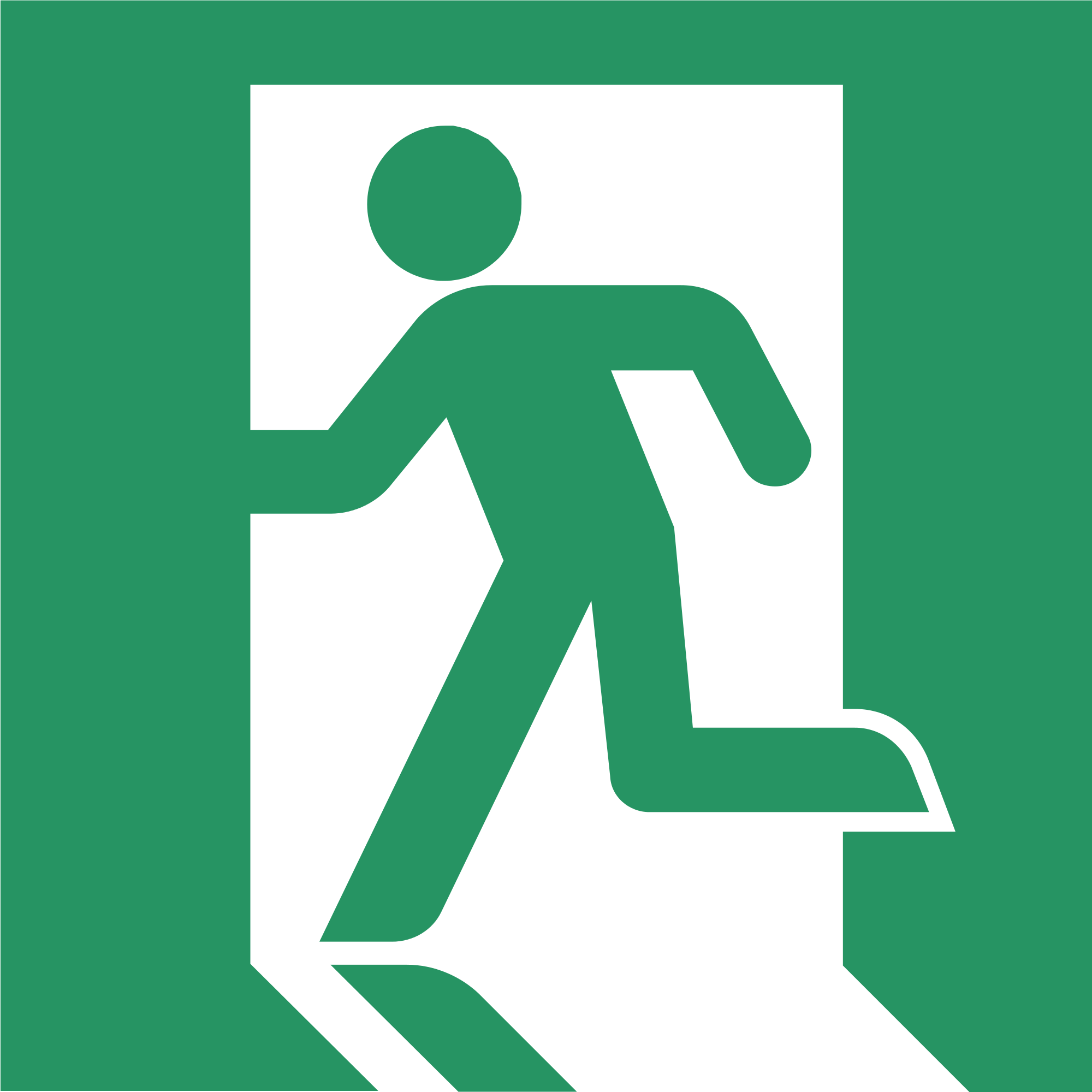 Exit Symbol Green PNG Image