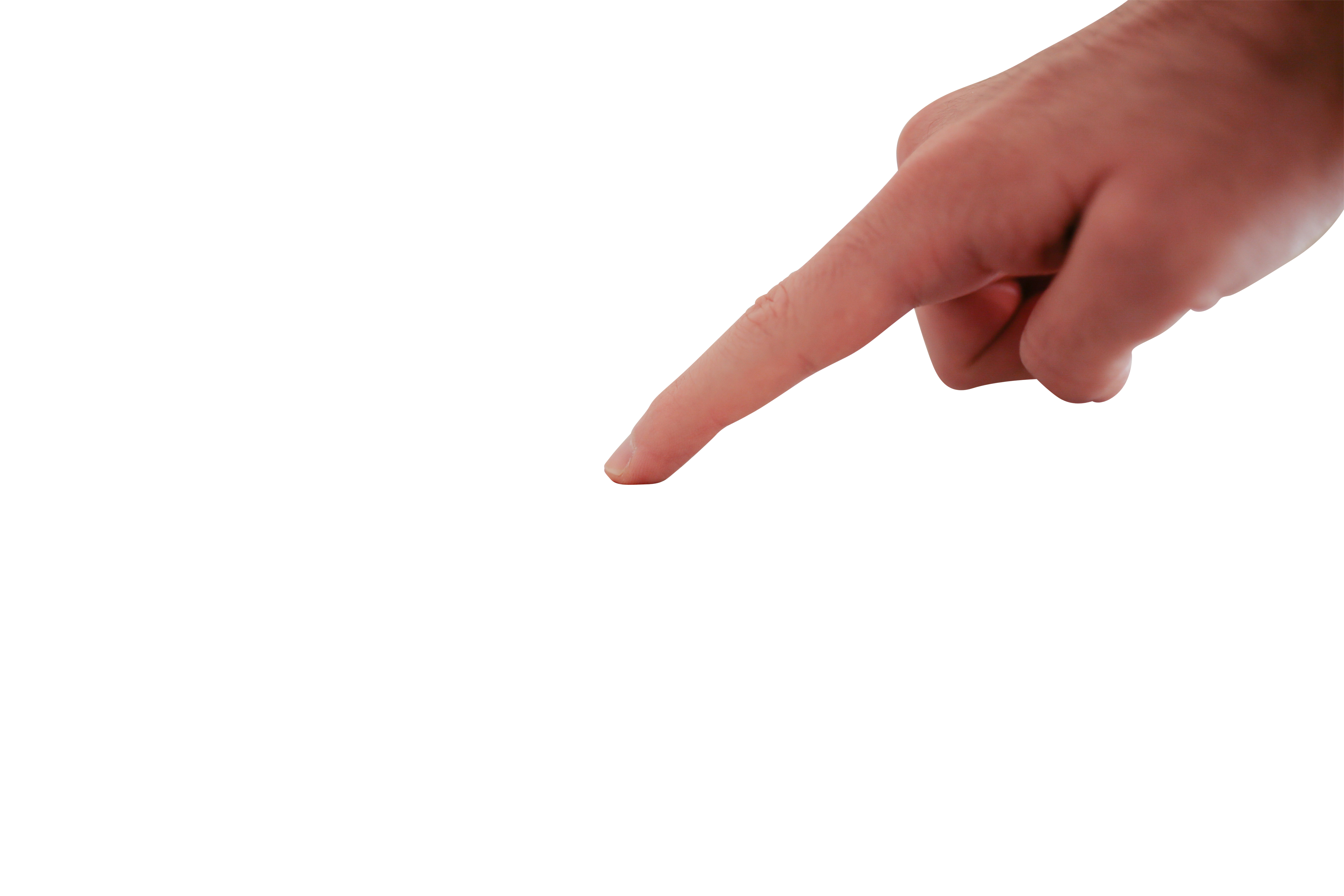 Finger pointing Downward PNG Image