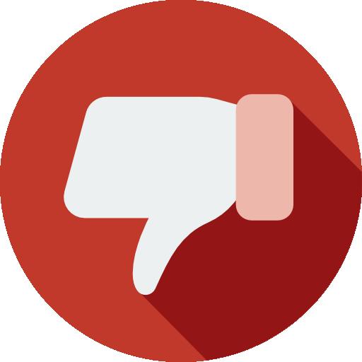 Flat Design Dislike Button