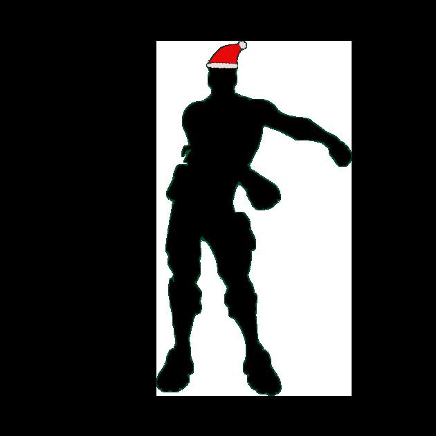 Floss Fortnite Christmas Siloet Png Image Purepng Free