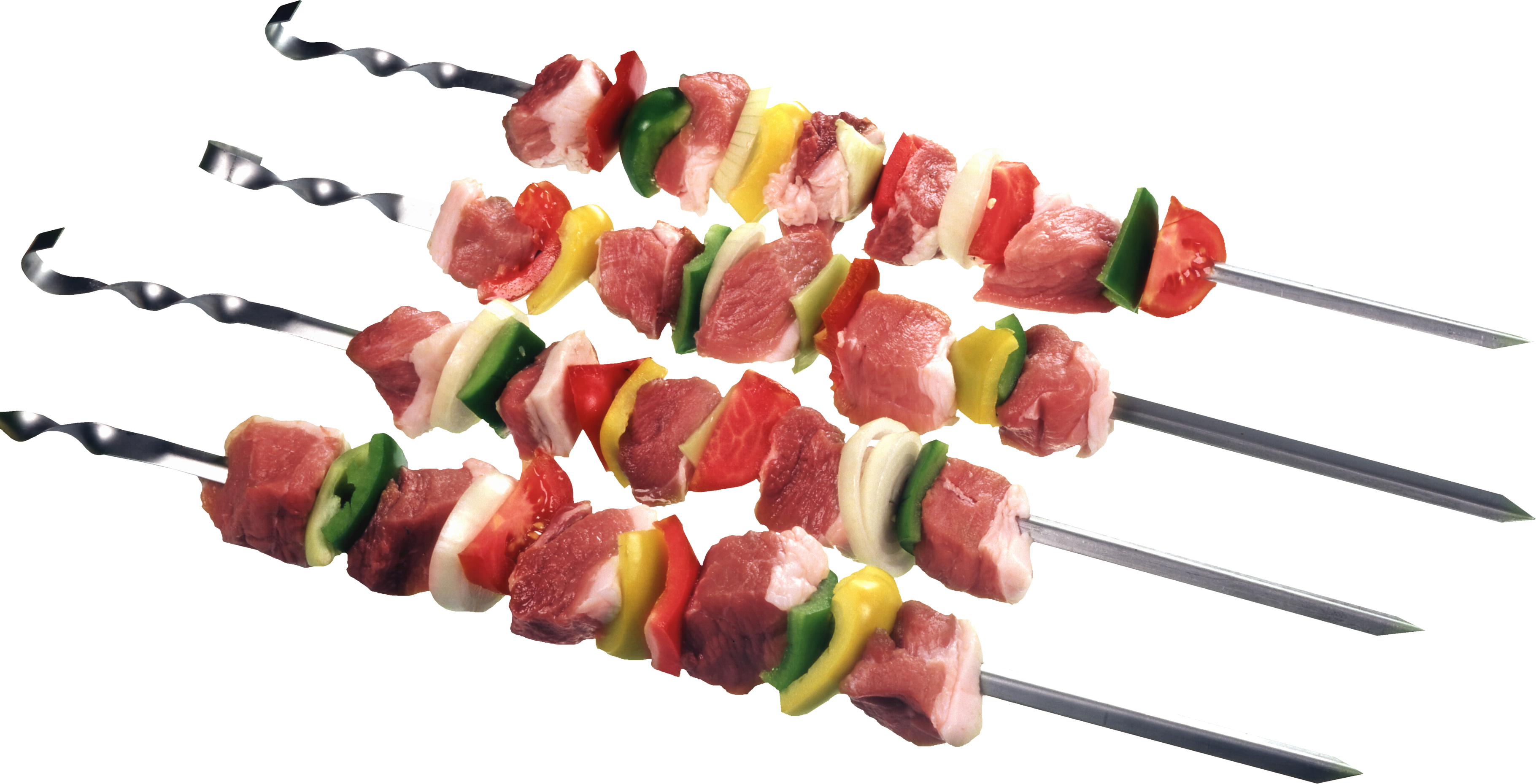 Four Meat Skewer PNG Image