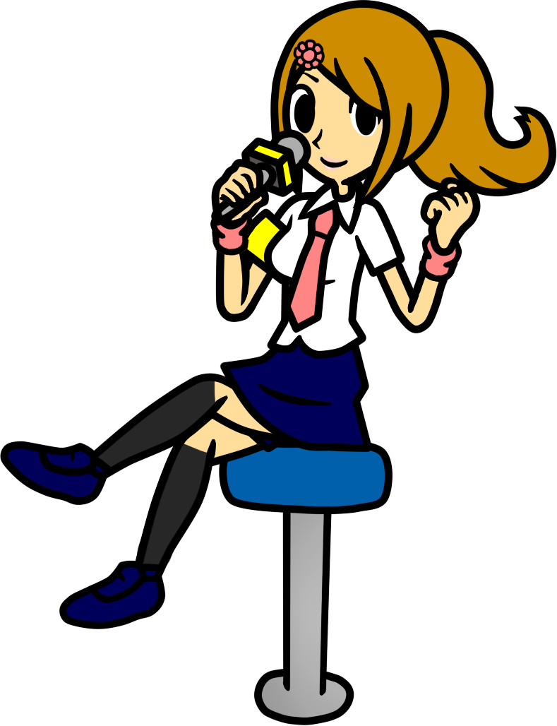 Girl Journalist Drawing PNG Image