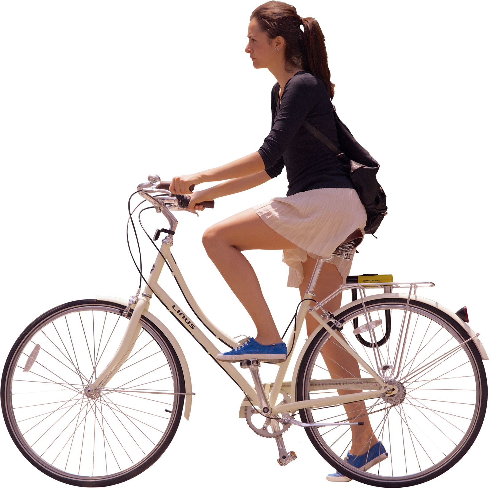 Girl Ride Bicycle PNG Image