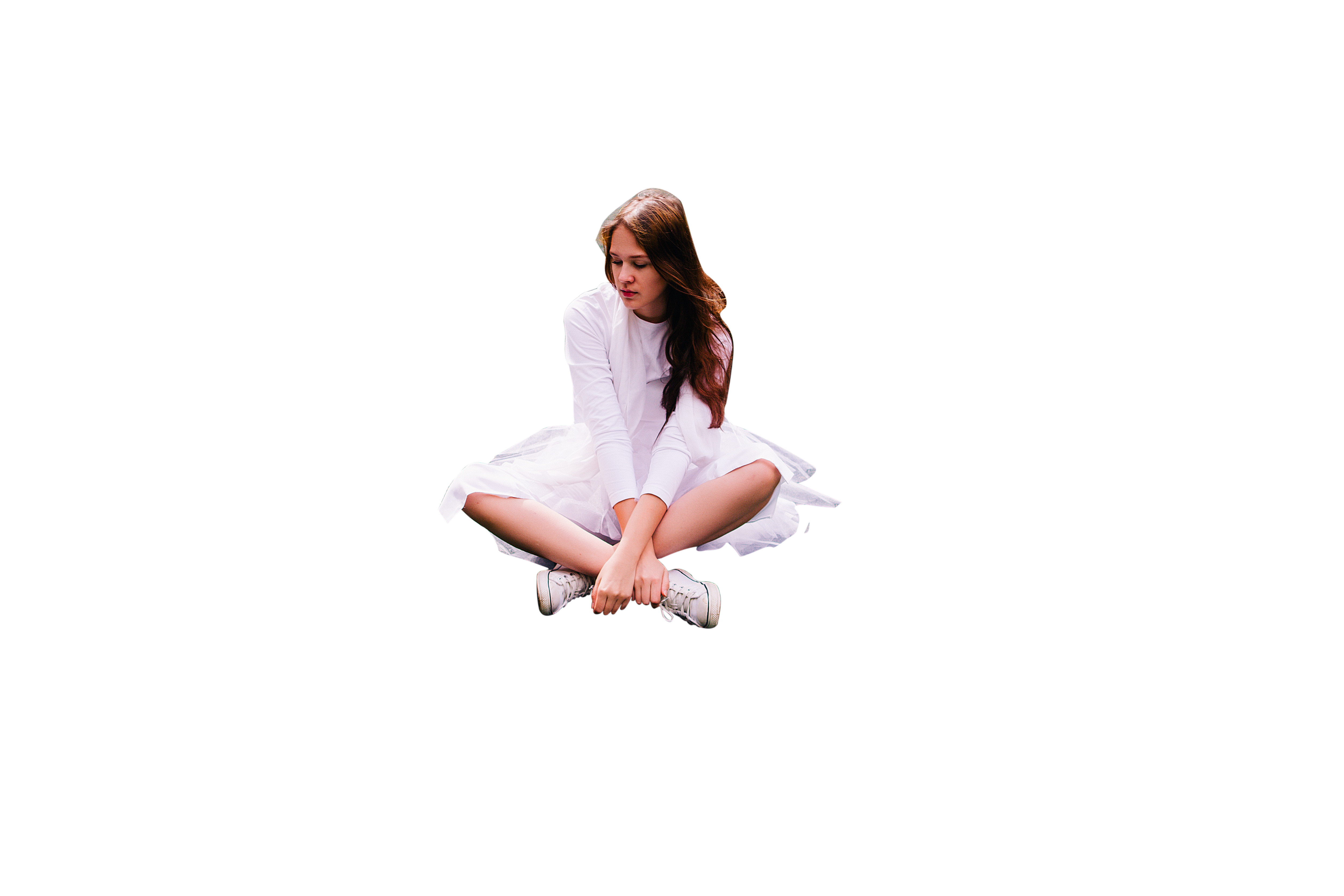 Girl Sitting PNG Image