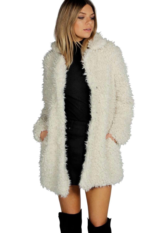 Girl in White  Fur Coat