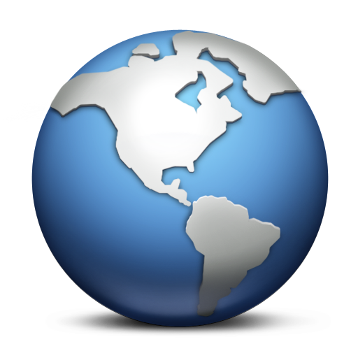 Blue and Grey Globe PNG Image