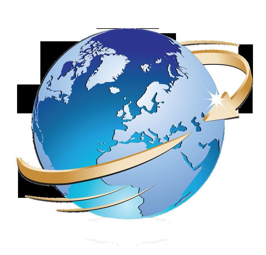 Globe with Arrow Around PNG Image