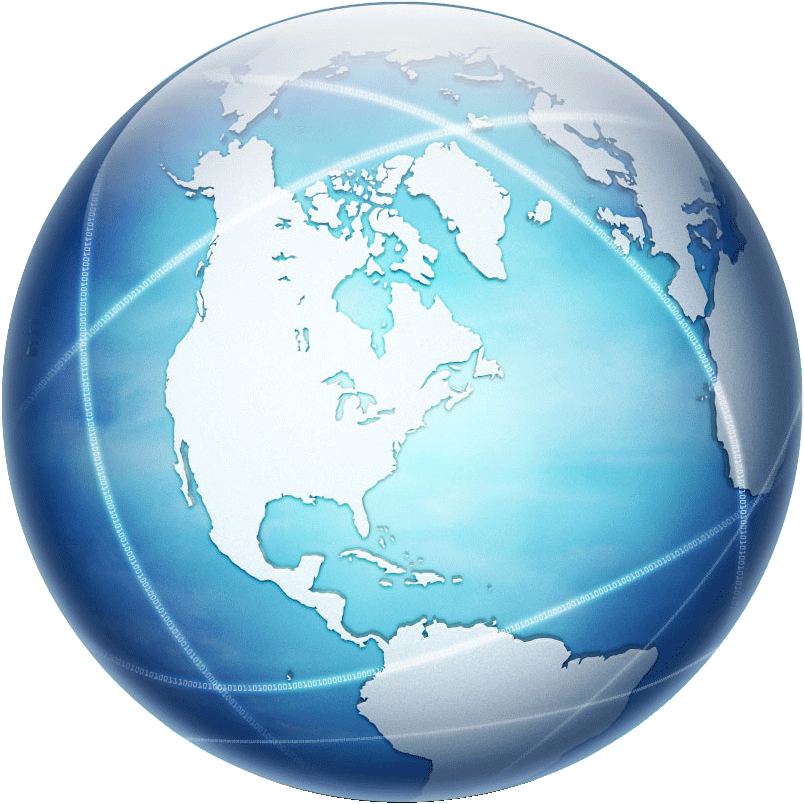 Blue and Grey Globe on Orbit PNG Image