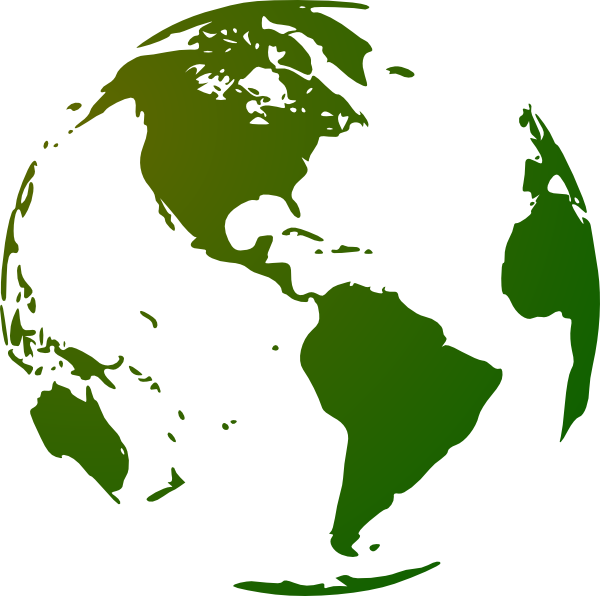 Green and White Globe PNG Image