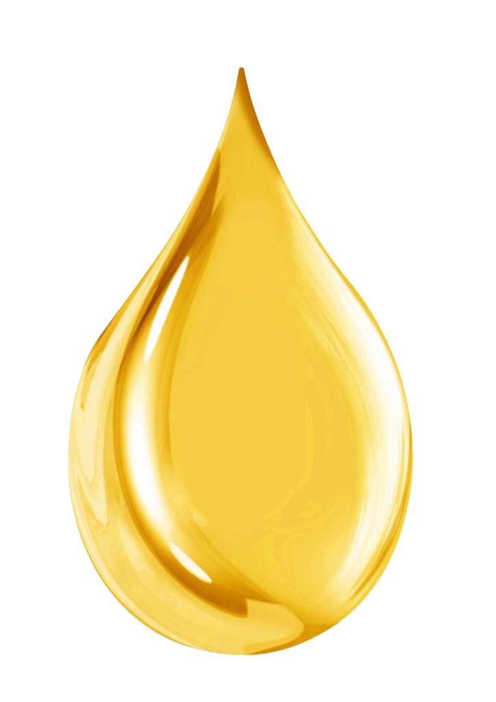 Golden Water drop PNG Image