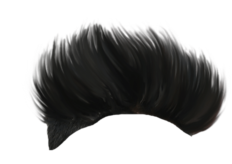 Hair Spikes Style PNG Image