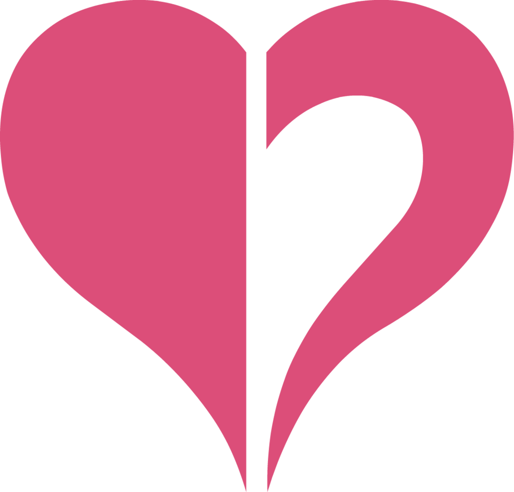 Halved Heart Shape PNG Image