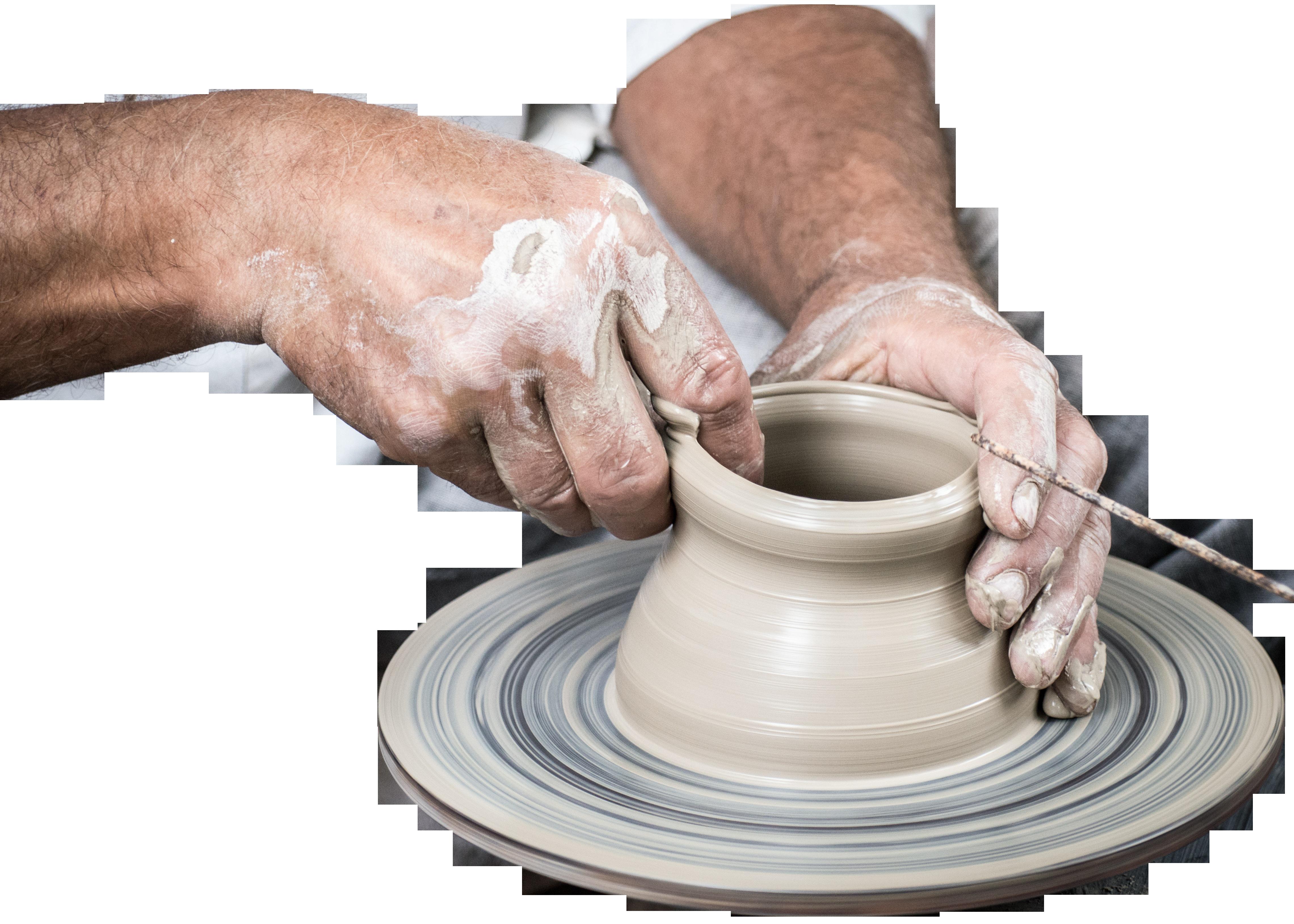 Handmade Vase Pottery PNG Image