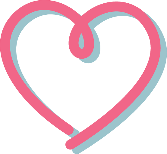 Heart Outline Pink PNG Image