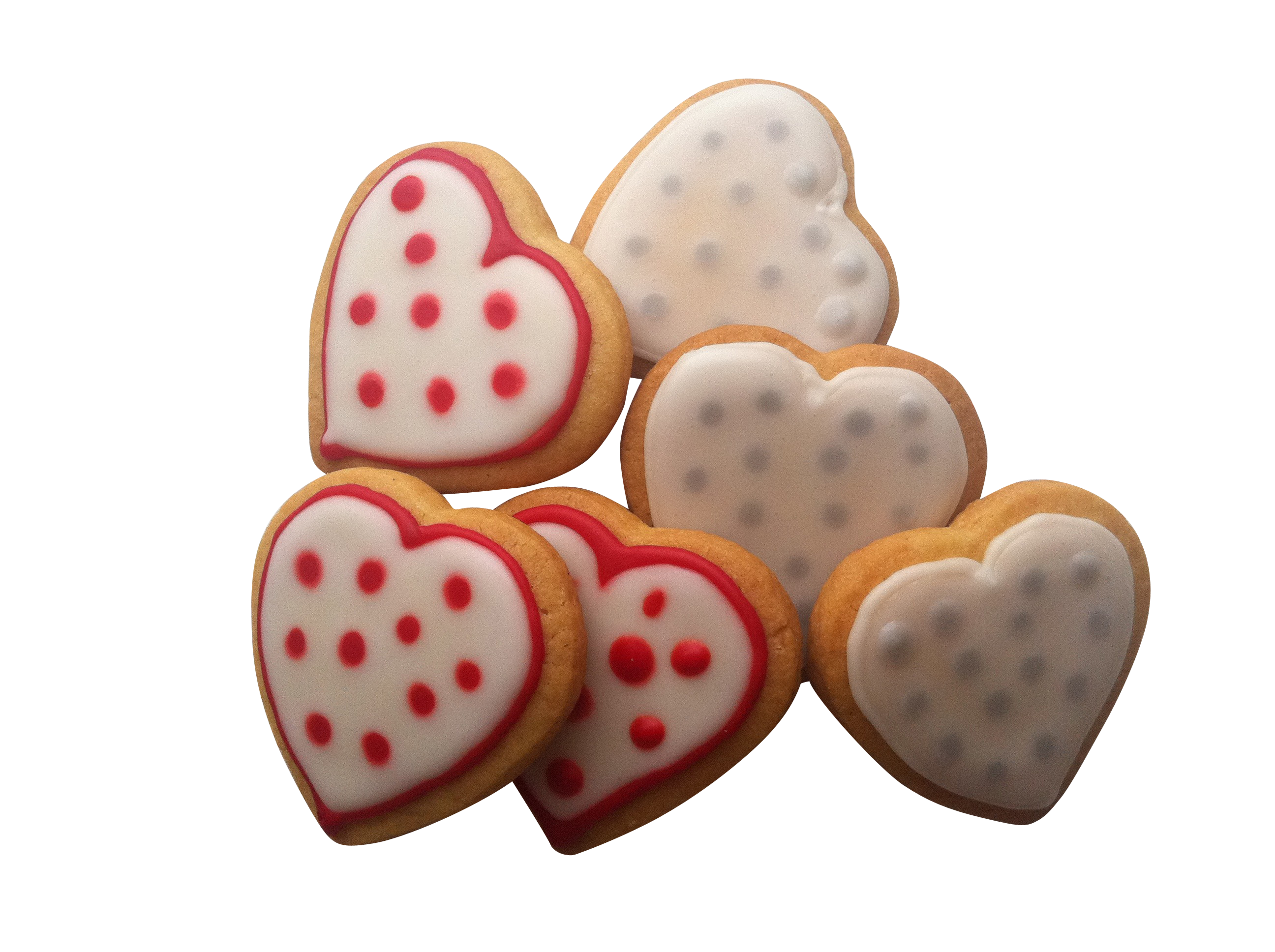 Heart Shaped Brown Cookies PNG Image